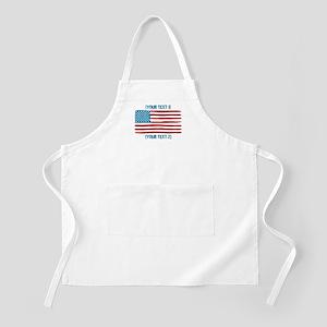 [Your Text] 'Handmade' US Flag Apron
